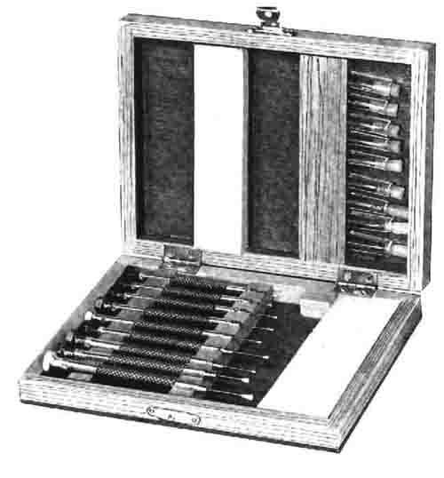 9 piece screwdriver set in wood box. Black Bedroom Furniture Sets. Home Design Ideas