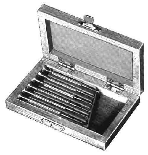 6 piece screwdriver set in wood box. Black Bedroom Furniture Sets. Home Design Ideas