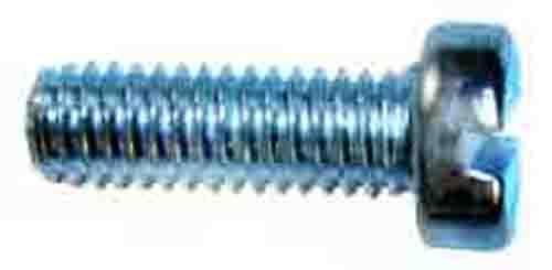 M2 x 25mm Slotted Steel Machine Screw 8-Pack