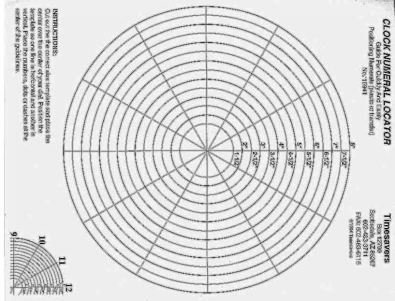 Clock Dial Template
