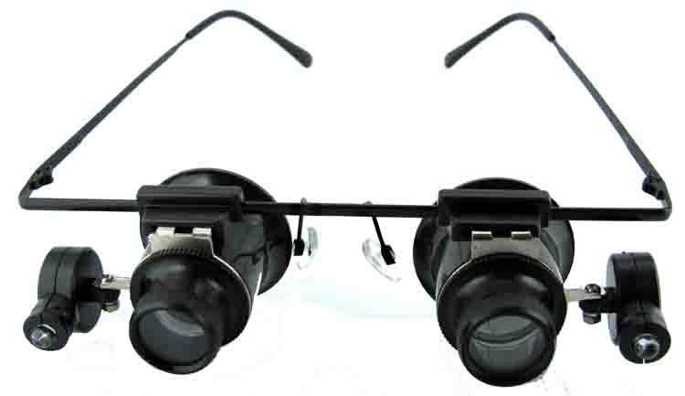 10x illuminated eyeglass loupe