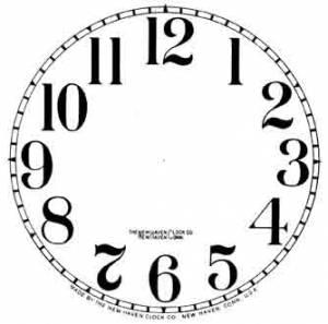 Clock Repair & Replacement Parts - Dials & Related - Paper Dials