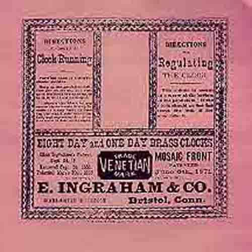 E  Ingraham Clock Company Label
