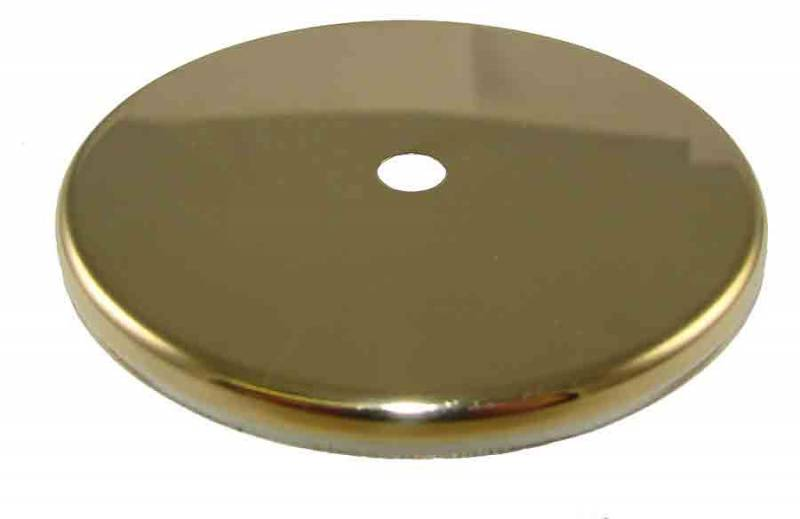 Brushed brass end cap for mm weight shell rounded edge