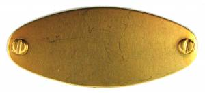 Label Plate - Brass Oval - Image 1