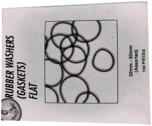 Large Flat O'Ring Assortment - 100 Pieces   32-50mm