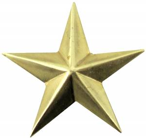 "Case Ornament 7/8"" Star - Brass - Image 1"