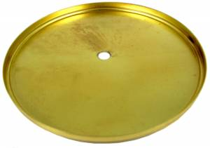"""135mm (5-5/16"""") Economy Brass Plated Dial Pan - Image 1"""