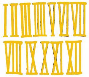 42mm Brass Plated Aluminum Roman Numeral Set
