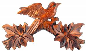 "SCHWAB-14 - Cuckoo Clock Top  10-1/2"" Brown - Image 1"