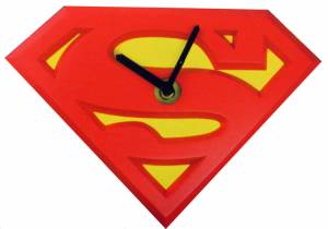 Superman TM Wobble Clock