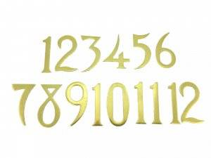 20mm Brass Plated Aluminum Arabic Numeral Set