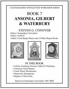 Ansonia, Gilbert & Waterbury by Steven Conover