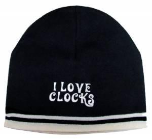 I Love Clocks Knit Beanie - Image 1