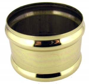 Polished Brass Weight Shell Memory Ring - Image 1