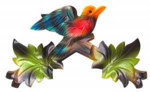 """Cuckoo Clock Top - 7-3/8"""" Multicolor"""