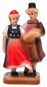 """1-1/2"""" Wood Dancing Couple - Image 1"""
