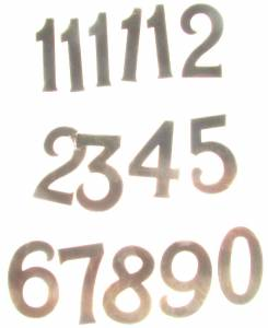 Timesaver - Milled Arabic Numeral Set-12mm