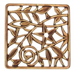 """Case Ornament - 1-3/16"""" Antiqued Square - Image 1"""