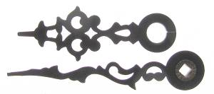 "Black Serpentine Hands  1-3/8"" Minute Hand - Pair - Image 1"