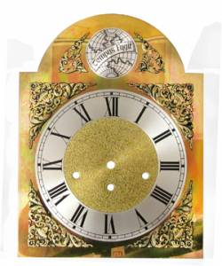 Silver & Brass Tempus Fugit Arch Dial - 250mm x 250mm x 330mm - Image 1