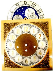 Silver & Brass Moon Phase Arch Dial - 250mm x 250mm x 352mm - Image 1