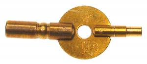 #2/0000 Double End Carriage Clock Key-American Size - Image 1