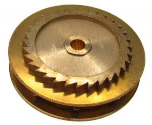 Chain Gear for German Clocks    51.0 x 40.0mm   Winds Counterclockwise  (For 39 LPF Chain)