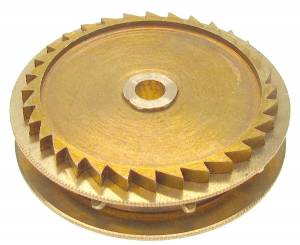Chain Gear for German Clocks    51.0 x 46.0mm Winds Clockwise