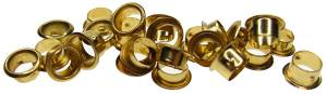 Brass Keyhole Barrel Grommet   24-Piece Assortment