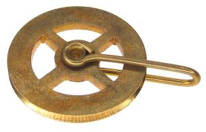 "1-1/8"" Universal Brass Pulley With Spokes"