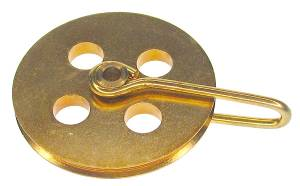 """1-1/8"""" Universal Brass Pulley With Holes"""