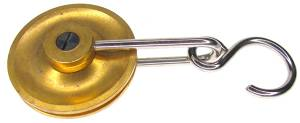 "Brass Regulator Pulley   1-1/2"" Diameter"