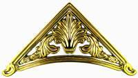 "Cast Brass Finish Metal Corner  3-7/8"" Legs"