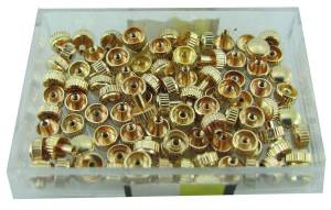 100-Piece Assortment Long Pipe Yellow Watch Crowns.