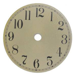 "Brass Tone Arabic 3-7/8"" Aluminum Dial"
