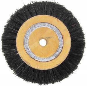 "4"" x 4 Row Nylon Bristle Brush on Wood Hub"