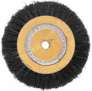 "4"" x 4 Row Nylon Bristle Brush on Wood Hub - Image 1"