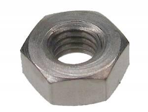 M2.5 Nickeled Metric Hex Nut  50-Pack - Image 1