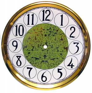 "10-11/16"" Fancy Arabic Dial/Pan Combo With 9"" Time Track"