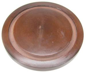 "Wood Base for 4-5/8"" Diameter Dome - Walnut Finish - Image 1"