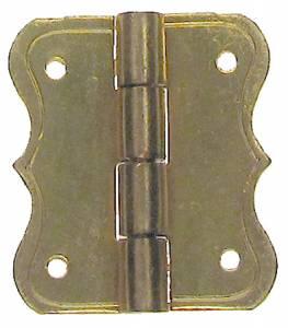 "5/8"" x 3/4"" Decorative Brass Hinge"