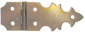 """5/8"""" x 1-7/8"""" Brass Strap Hinge"""