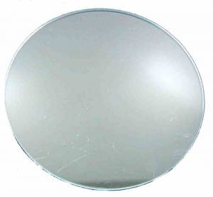 Pam-Ad Clock Round Convex Glass with Flattened Top