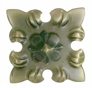 """Case Ornament - 1-3/8"""" Antiqued Square - Image 1"""
