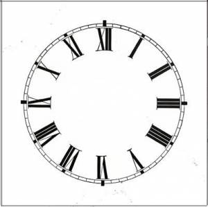 "8"" High Gloss White Roman Dial - Image 1"