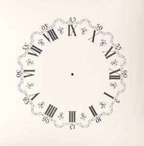 """4-3/4"""" Fleur-de-Lys Paper Dial - Image 1"""