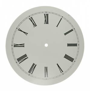 """Round White 10"""" Roman Aluminum Dial - Image 1"""