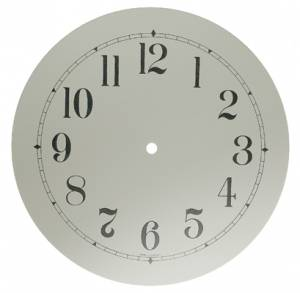 """7"""" Round White Arabic Aluminum Dial"""