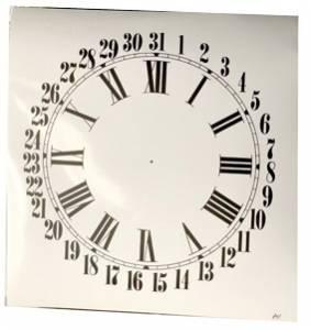 "4-3/4"" White Roman Calendar Dial - Image 1"